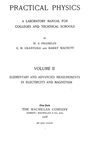 Practical physics by William S. Franklin