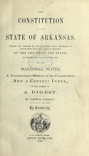 The constitution of the state of Arkansas.