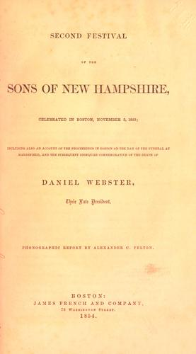 Second festival of the Sons of New Hampshire by Sons of New Hampshire.