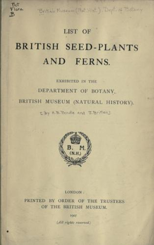 List of British seed-plants and ferns
