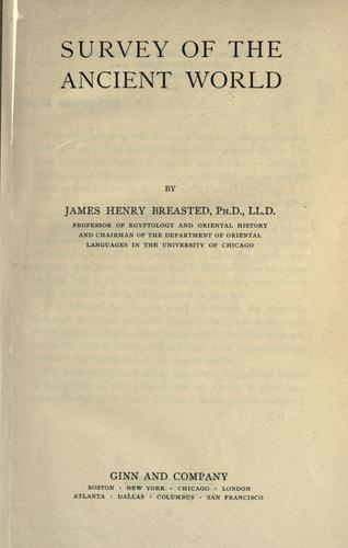 Survey of the ancient world by James Henry Breasted