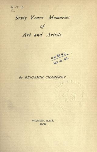 Sixty years' memories of art and artists.