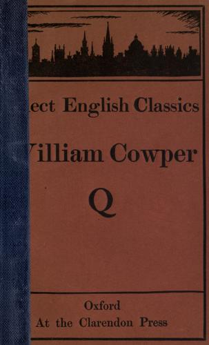 Cowper's poems, chosen by A.T. Quiller-Couch by Cowper, William