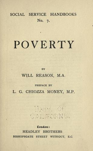 Poverty by Will Reason