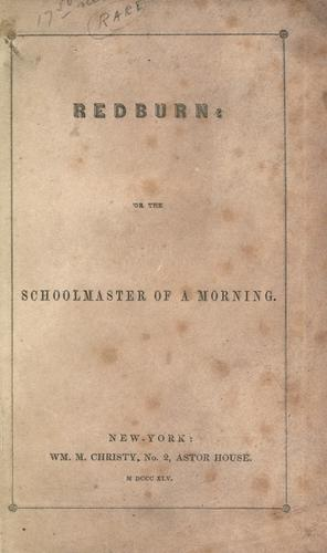 Redburn, or, The schoolmaster of a morning by