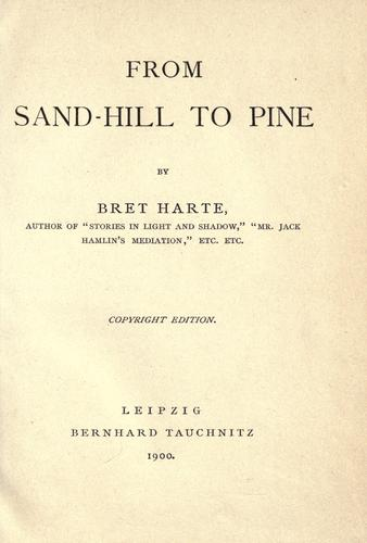 From sand-hill to pine