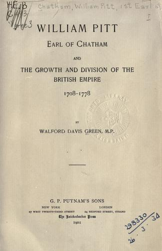 William Pitt, Earl of Chatham by Walford Davis Green