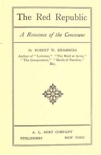 The red republic by Robert William Chambers