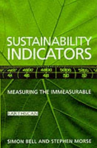 Sustainability Indicators by Simon G Bell