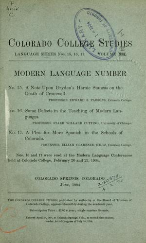 Publications.  Language series by Colorado College