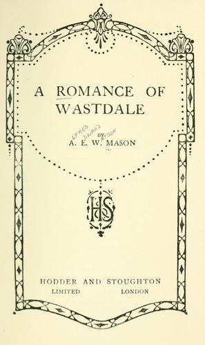 A romance of Wastdale.