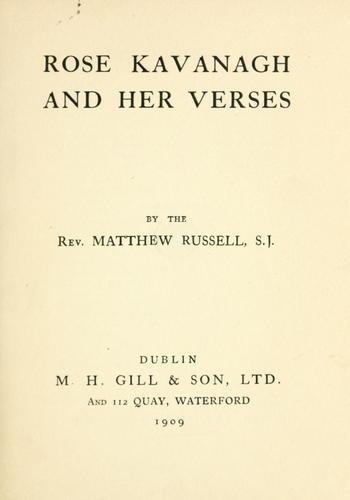Rose Kavanagh and her verses by Russell, Matthew