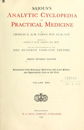Sajous's analytical cyclopædia of practical medicine by Charles Euchariste de Médicis Sajous