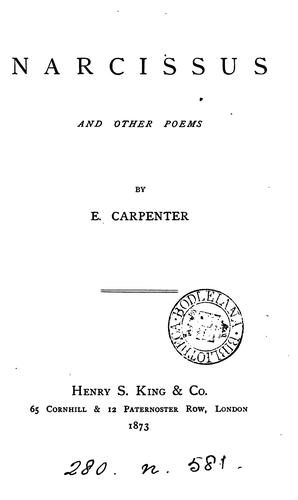 Narcissus, and other poems by Edward Carpenter