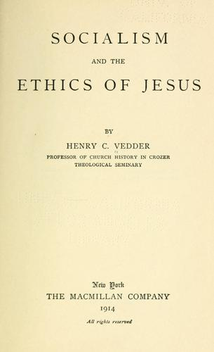 Socialism and the ethics of Jesus