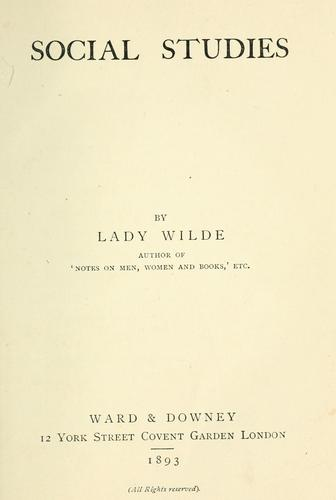 Social studies by Wilde Lady