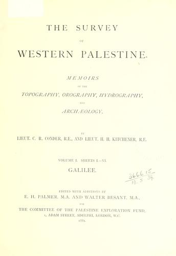 The survey of western Palestine
