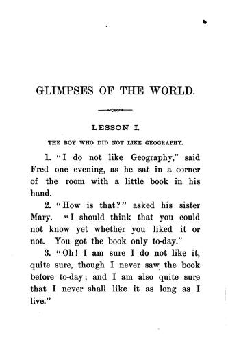 Glimpses of the World by Larkin Dunton