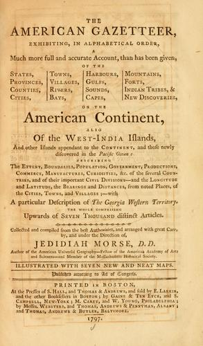 The American gazetteer by Jedidiah Morse