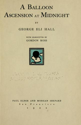 A balloon ascension at midnight by George Eli Hall