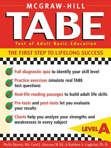 TABE (Test of Adult Basic Education) Level A by