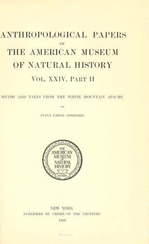 Myths and tales from the White Mountain Apache