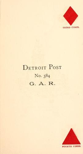 Detroit post by Grand army of the republic. Dept. of Michigan. Detroit post, no. 384