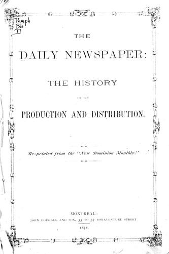The daily newspaper by G. H. F.