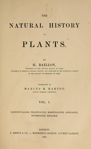The natural history of plants by Henri Ernest Baillon
