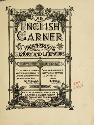 An English garner by Arber, Edward
