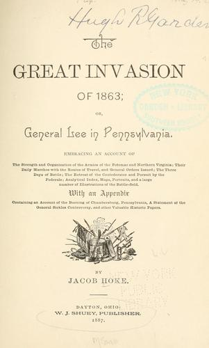 The great invasion of 1863