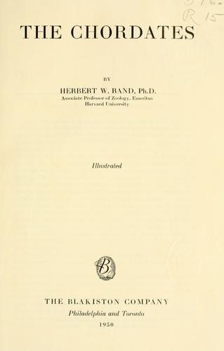 The chordates by Herbert W. Rand