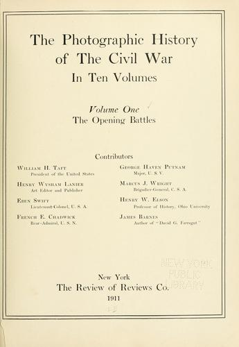 The photographic history of the Civil War by Miller, Francis Trevelyan