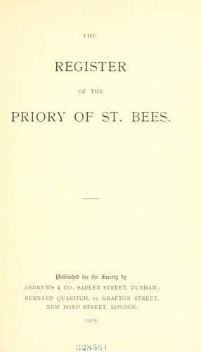 The register of the priory of St. Bees by St. Bees Priory