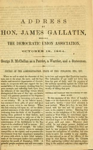 Address by Hon. James Gallatin by Gallatin, James