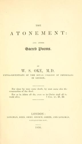 The atonement by W. S. Oke