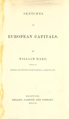 Sketches of European capitals by Ware, William