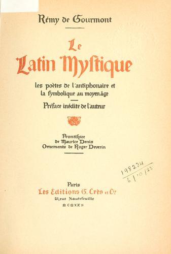 Le latin mystique
