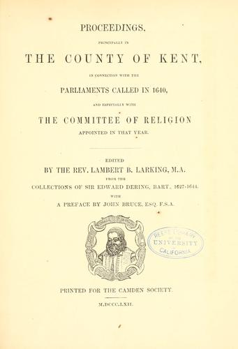 Proceedings by Lambert B. Larking