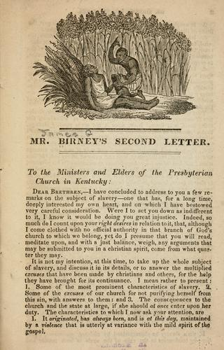 Mr. Birney's second letter by Birney, James Gillespie