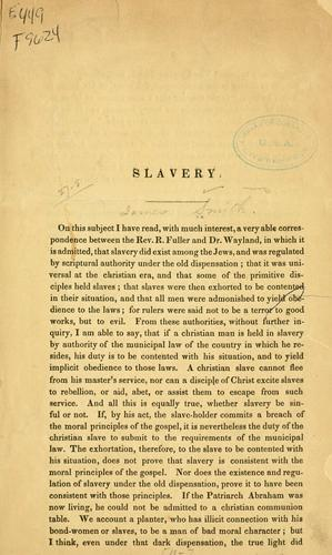 Slavery by James Smith