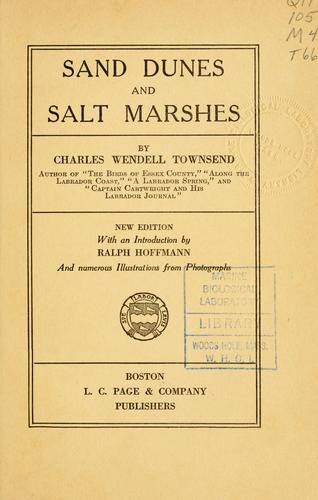 Sand dunes and salt marshes by Townsend, Charles Wendell
