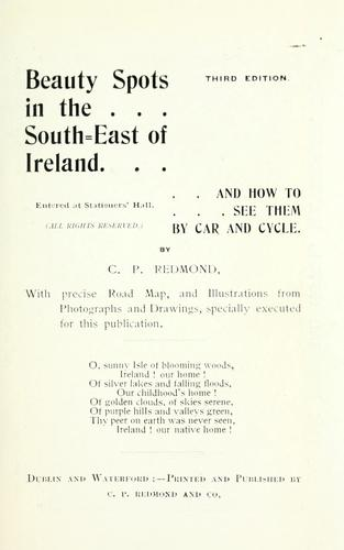 Beauty spots in the south-east of Ireland by Cornelius P. Redmond