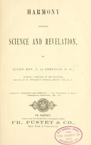 Harmony between science and revelation