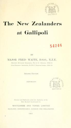The New Zealanders at Gallipoli by Frederick Waite