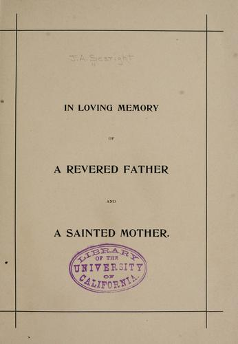 A record of the Searight family, (also written Seawright.) by James Allison Searight