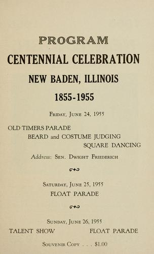 New Baden centennial, 1855-1955 by Charlene Peters