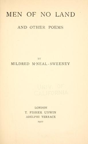 Men of no land, and other poems by Mildred M' Neal Sweeny