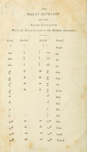 A vocabulary of the English and Malay languages by Benjamin Peach Keasberry