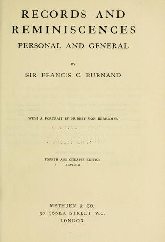Records and reminiscences by Francis Cowley Burnand